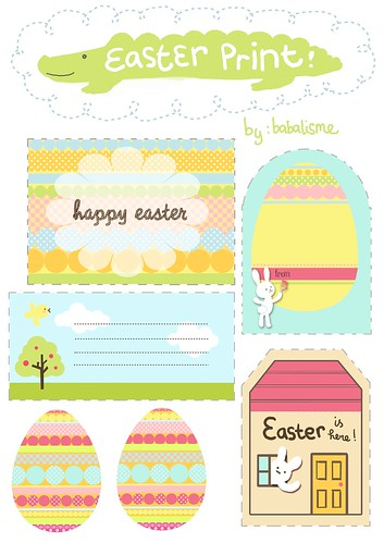 Babalisme easter gift tags printables is here for Easter name tags template