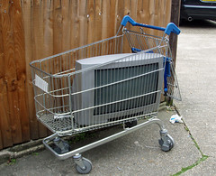 dog crate(0.0), vehicle(0.0), cage(0.0), shopping cart(1.0), cart(1.0),