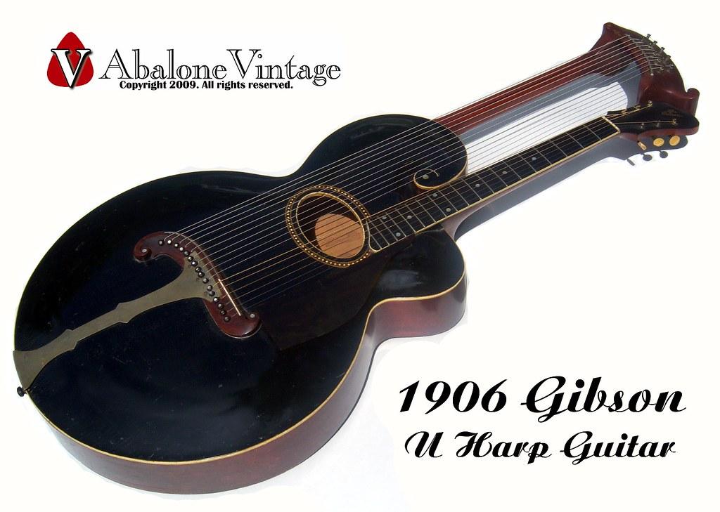 Vintage 1906 Gibson U Harp guitar 10 course model