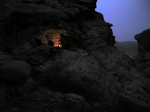 Desert gathering fire