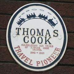 Photo of Thomas Cook white plaque