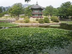 Hyangwonji (pond) and Hyangwonjeong (pavilion), Gyeongbok Palace, Seoul