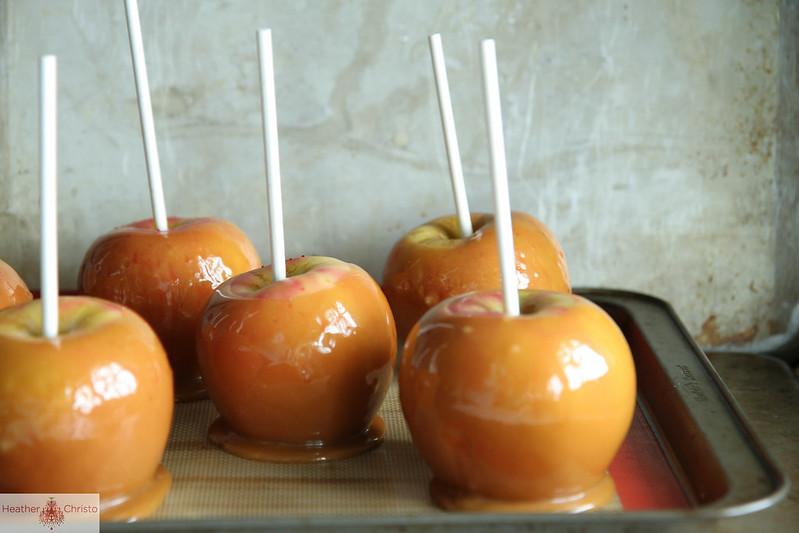 Salted Vanilla Caramel Chocolate Apples