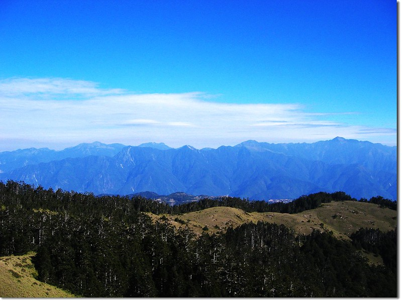 西合歡山北眺雪劍連稜 3