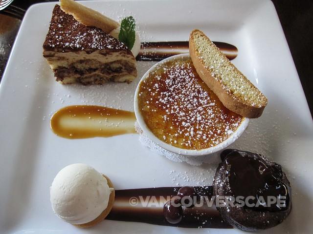 Joe Fortes dessert trio