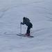 A máme tady  lyžařku, která si užívá první jízdu., foto: Monínec