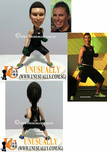 Unusually Personalized 3D Body Combat Female Figurine - @www.unusually.com.sg