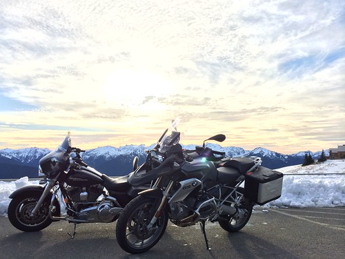 Bikes on Hurricane Ridge
