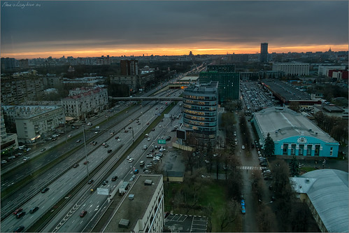 landscape evening cityscape russia moscow aerial fromabove