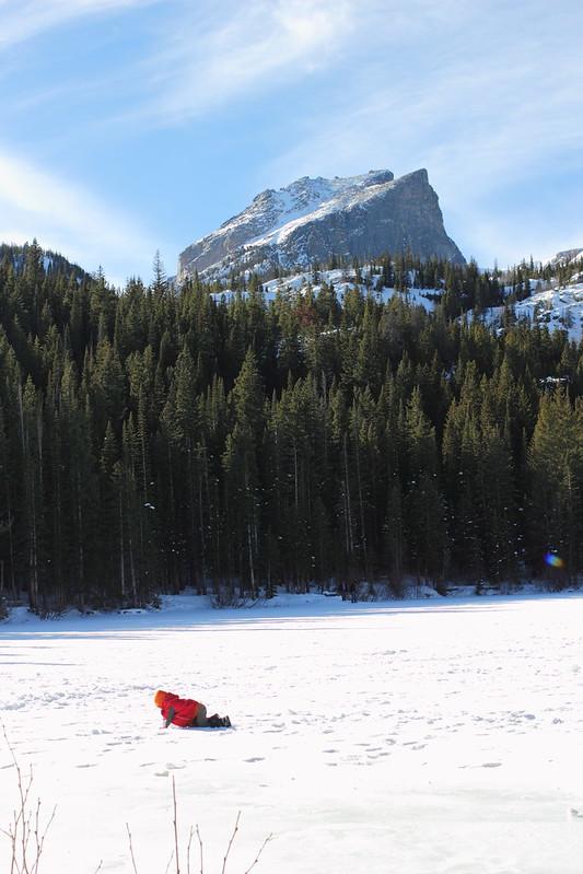 Bear Lake iced over