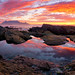 Blaauwberg Rockpool Sunset by Panorama Paul