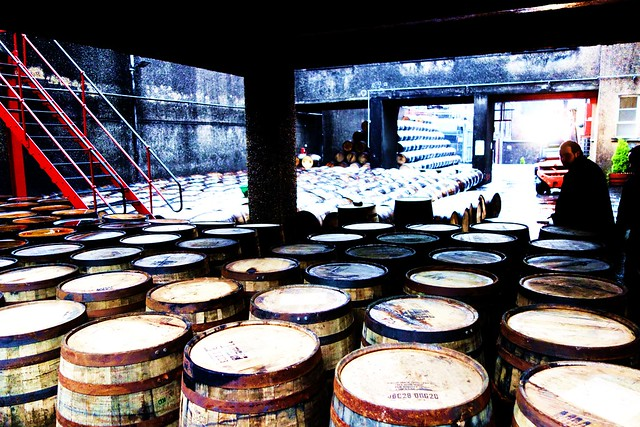 Whisky Casks at Deanston Distillery, Scotland
