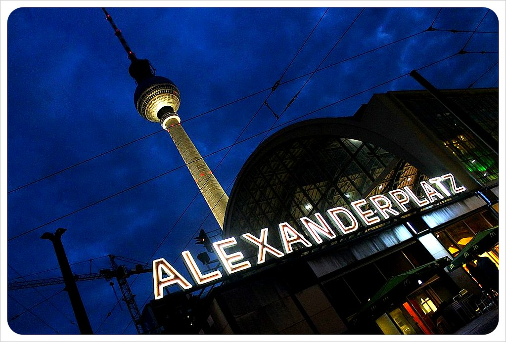7 alexanderplatz at night