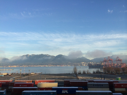 View from our new office in Vancouver - still a bit foggy