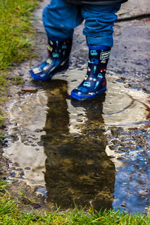 Winter - Rain - Puddles - Splashing