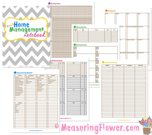 photo relating to Free Printable Household Binder identified as My Residence Command Laptop As well as Cost-free Printables for Your