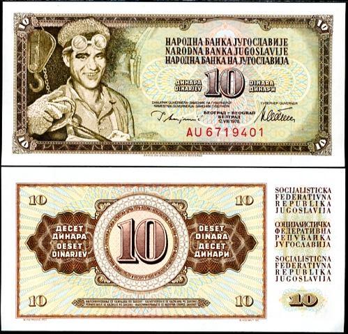 10 Dinárov Juhoslávia 1978, Pick 87
