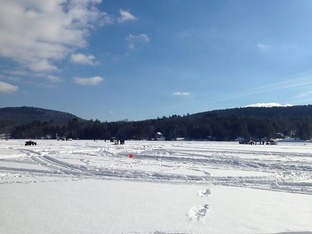 Ice Fishing Lake Fairlee Vt Flickr Photo Sharing