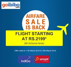 Mega Holi Offer To Find Cheap Domestic Flights