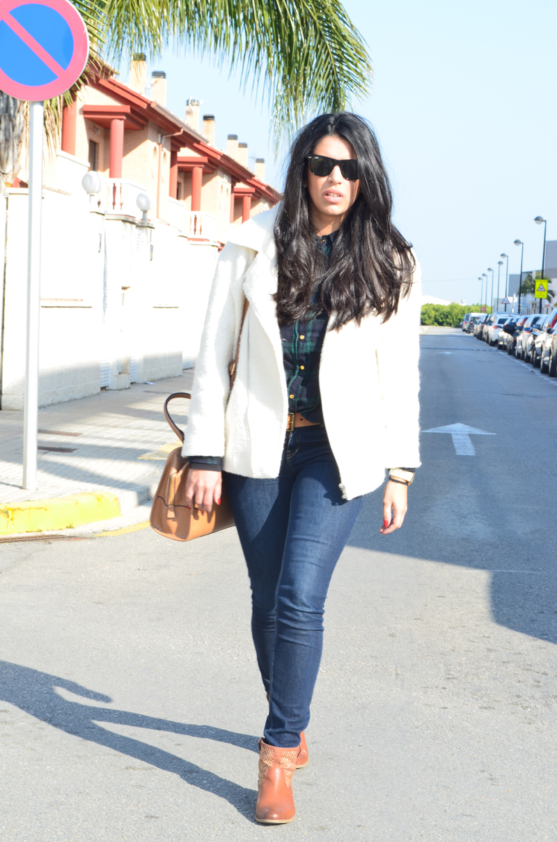 florenciablog chaqueta fieltro inspiration tartan cream jacket casual look bloggers gandia (5)