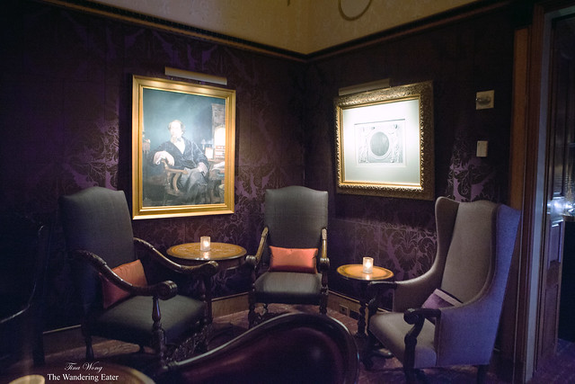 Corner seating at Rarities