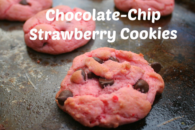 Chocolate-Chip Strawberry Cookies