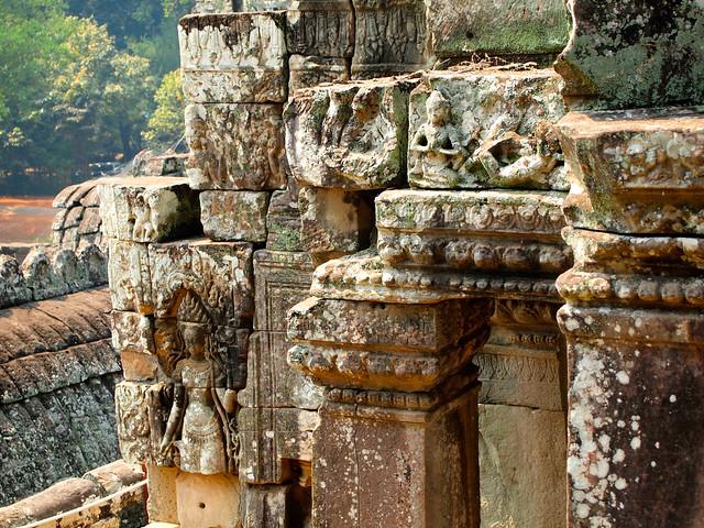 Bayon temple in Angkor, Cambodia