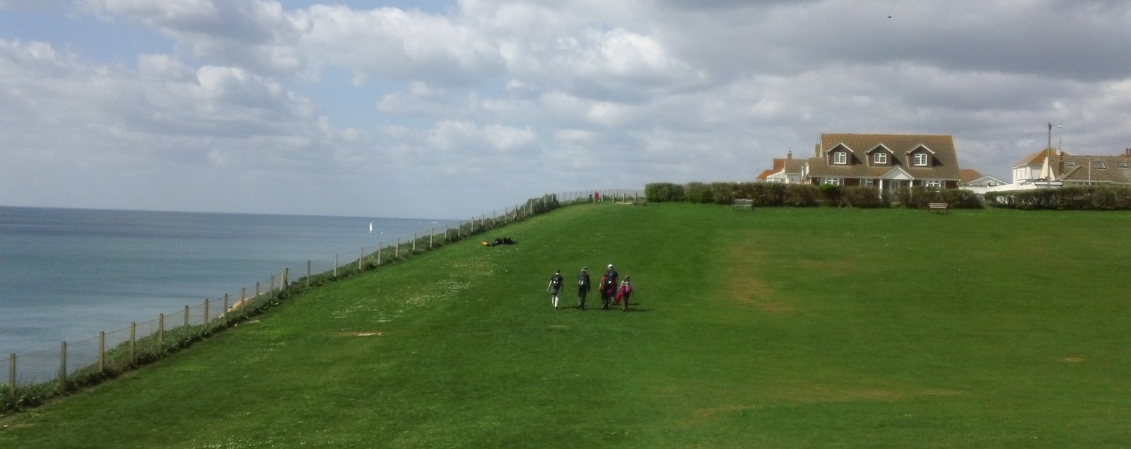 Appproaching Peacehaven for lunch