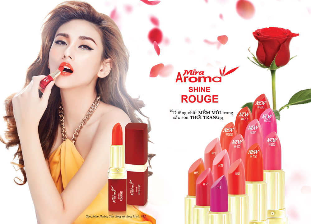 Son Mira AROMA Rouge shine lips new colors