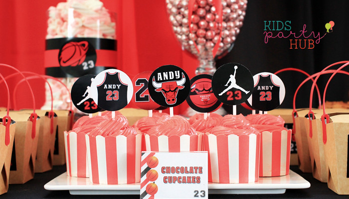 Basketball Sports Themed Cupcakes