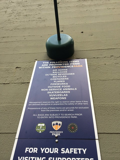 rules at providence park