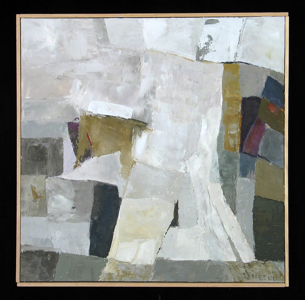 Carol O'NEILL Quarry Worker 30x30 inches Mixed Media 2005-1