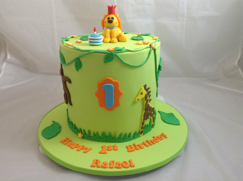 Jungle Cake 1st Birthday