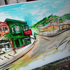 St. Mary's Pub is in the #cityofawesome #muniart painting.  #bernalwood