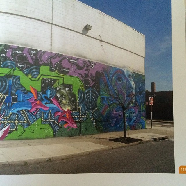 "Only 3 weeks till my book ""Graffiti Murals"" comes out! Pg 117, featuring @cernesto with the #wallnuts in #Gowanus. #graffiti #streetart #Brooklyn"