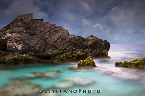 ocean longexposure water rocks horseshoebay bermuda