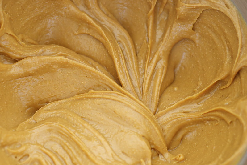 Peanut butter and butter mixture