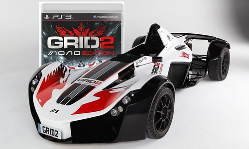 Grid 2 Bac Mono Edition that costs $190,000 comes with a player's own personalized vehicle