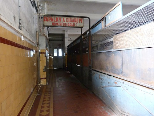 Pasillo de uno de los edificios de las minas Michal (Ostrava)
