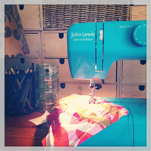 Spent my Christmas present money from my lovely nana on a new sewing machine. Quite lovely.