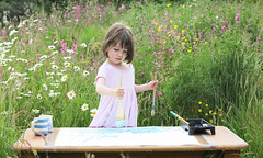 Iris Grace Painting garden studio at home
