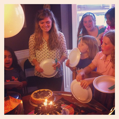 Birthday candles and birthday joy. #betsies18thbday