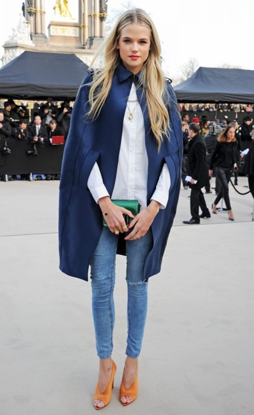 2 Gabriella Wilde wearing Burberry at the Burberry Prorsum Womenswear Autumn Winter 2013 Show