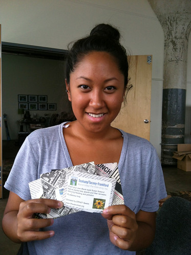 Intern Amanda with Ernst Seeds