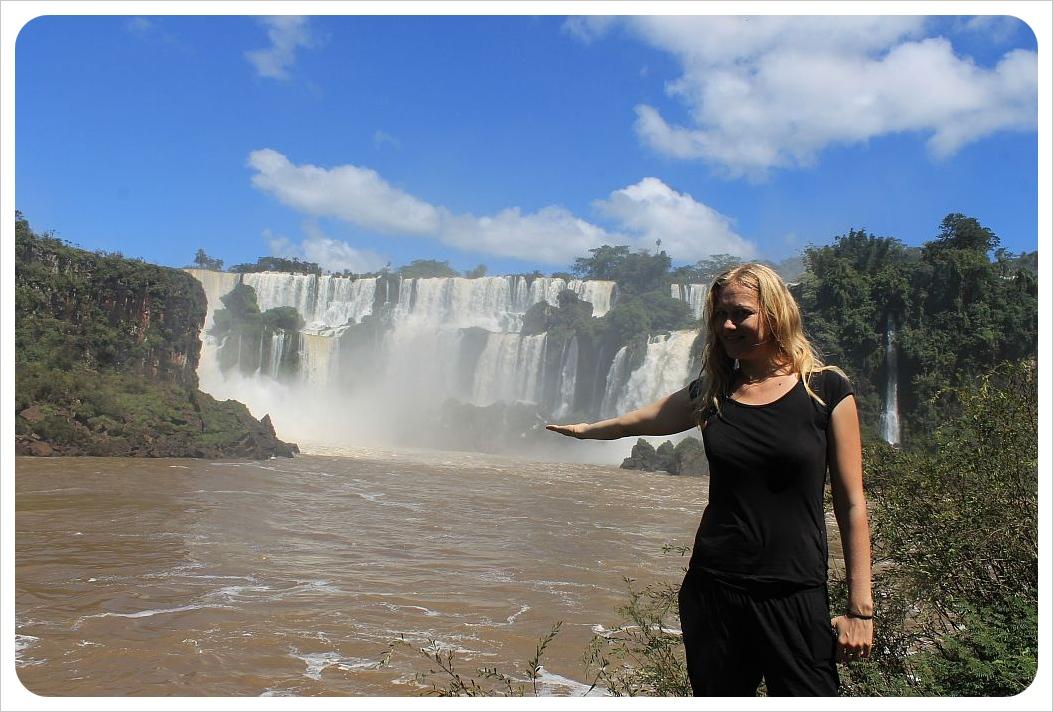 iguazu falls dani with falls