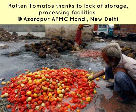APMC Act Azarpur mandi wastage
