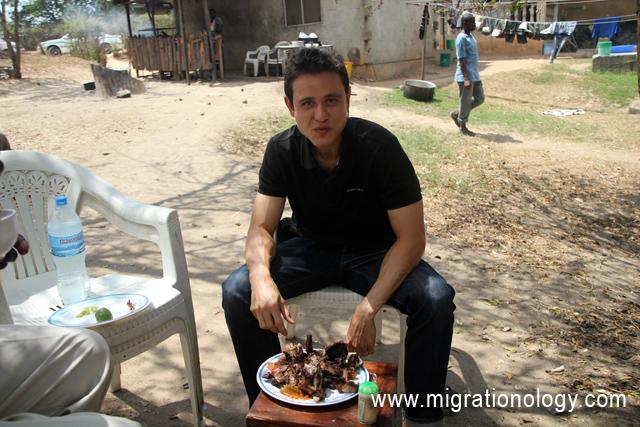 The Sunday afternoon nyama choma goat roast