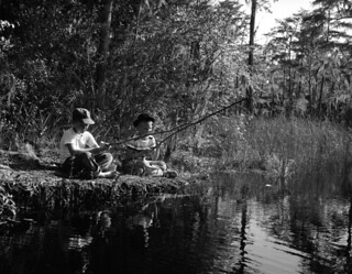 Ernest Smith (left) and Jerry Ingram fishing in Tallahassee, Florida