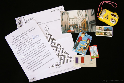 Contents of the Little Passports France Package