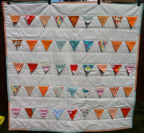 Fly the Flag Quilt - Orange version